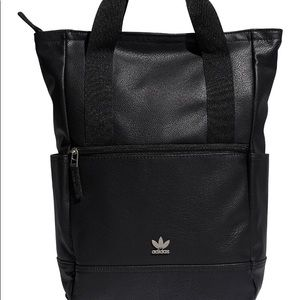 ADIDAS Originals Tote Backpack Black PU Leather